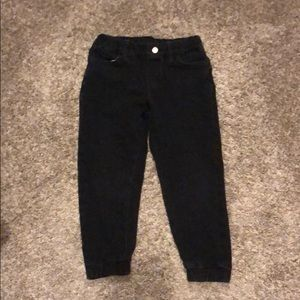 Uniqlo boy sz 5-6 black jeans